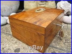 Superb Large Victorian Olivewood Antique Jewellery Box Fab Interior