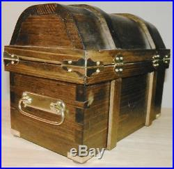 Treasure Chest All Wood Handcrafted Trick Puzzle Chest with3 Storage Box