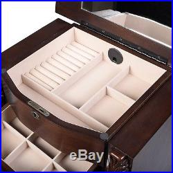 US Wood Jewelry Cabinet Armoire Box Storage Chest Stand Organizer Necklace New