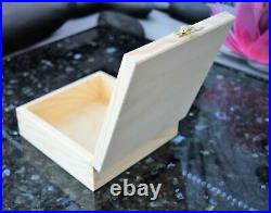 Unfinished Wooden Box Lid & Clasp, DIY Craft, Art, Jewelry, Home Storage ALL SIZES
