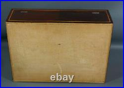 Victorian Jewelry Wooden Marquetry Box Casket Mahogany Drawer Hidden Space Level