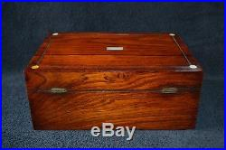 Victorian rosewood sewing/jewellery box