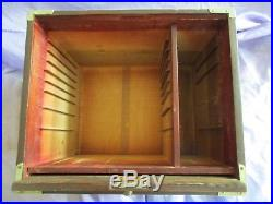 Vintage Antique 14 Draw Wooden Box W Dovetailed Corners -jewelry Box Tool Box