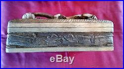 Vintage Antique Jewelry Trinket Box Dragon Fortune Hand Carved Wood