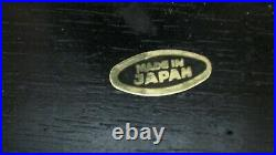 Vintage Black Lacquered Wooden Japanese Jewelry Box Figurines/Musical Window
