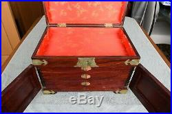 Vintage Chinese Wooden Jewelry Chest Box
