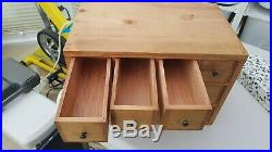 Vintage Conran Wooden Jewellery or Spice -12 Drawer Storage Box