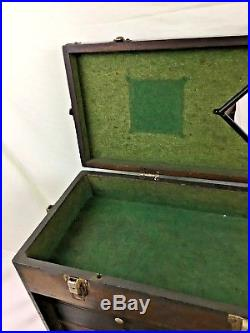 Vintage H. GERSTNER & SONS WOODEN JEWELRY TOOL MACHINIST CHEST Box Model 052