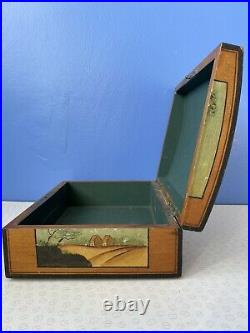 Vintage Hand-painted Wooden Jewellery Box