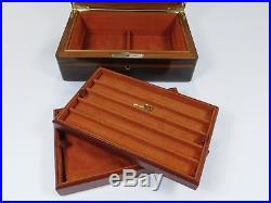 Vintage Hermes Lacquered Wood Jewelry Box Tray Valet Key Home Desk Case 1030