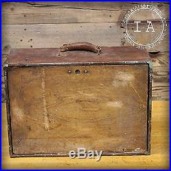Vintage Industrial 5 Drawer Wooden Tool Box Jewelry Trinket Chest Cabinet