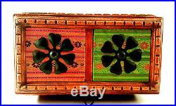 Vintage Jewelry Box India Mango Wood 3 drawer, 1 Cupboard Chest Jewelry, Spices