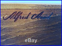 Vintage Knotty Pine Wood 4 Drawer Chest Night Stand End table by Alfred Assid