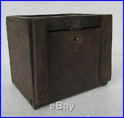 Vintage Old Hand Carved Wooden Jewellery Box Chest 4 Compartment Handmade Box
