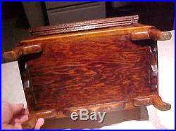 Vintage Old Unusual Handmade Small Miniature Wood Wooden Box Chest with Till