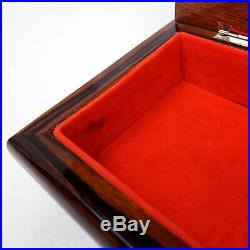 Vintage Reuge Musical Jewelry Box Wooden Swiss Movement Italy Polonaise Chopin