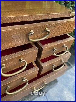 Vintage Wooden Japanese Tansu Chest 6 Drawer Jewelry Box