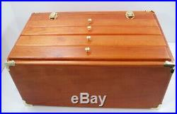 Vintage Wooden Machinist Style Tool Box Felt Drawers Hobby Utility Jewelry Chest