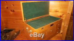 Vintage Wooden Machinist / Toolbox / Jewelry Box with 6 Drawers