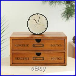 Vintage Wooden Storage Box Drawer Cosmetic Jewelry Organizer Top Quality Cabinet