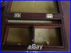 WILLIAMSBURG REPRODUCTION Wooden Tea Jewelry Box By Virginia Metalcrafters
