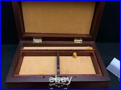 WILLIAMSBURG REPRODUCTION Wooden Tea Jewelry Box By Virginia Metalcrafters NWT