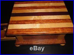 Wooden Jewelry Box Handmade Purple Heart Wood Beautiful Unique One Of A Kind