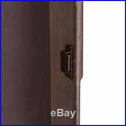 Wall Mounted Wooden Mirrored Jewelry Armoire Storage Organizer Furniture