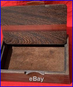 Wenge With Bloodwood Wooden Jewelry Box signed by Michael Hamilton 8 across