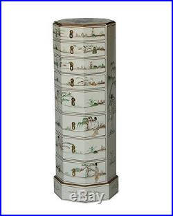 White Lacquer Wooden Jewelry Cabinet Model N3014-WT