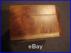 Wood Jewelry Box (Nordstrom, made in Italy) with key Vintage late 1980's