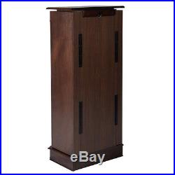 Wood Jewelry Organizer Cabinet Armoire Box Storage Chest Stand Necklace