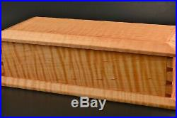 Wooden Box Curly Tiger Maple keepsake trinket hand crafted jewelry handmade