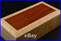 Wooden Box made from Curly Maple and Morado keepsake trinket jewelry ornamental
