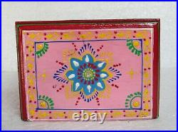 Wooden Handcrafted Painted Chest of 4 Drawer Jewelry Box Home Decor