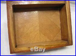 Wooden Inlay Marquetry Inlaid Wood Jewelry Box Dresser Trinket Bow Knot Pattern
