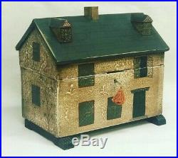 Wooden Jewellery Box In the Form Of A Victorian Dolls house