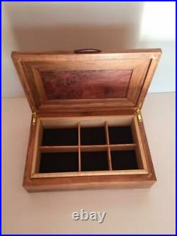 Wooden Jewellery Box Wandoo with Jarrah Burl panel