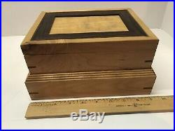 Wooden Jewelry Box Hand Made Unique One Of A Kind Maple, Walnut, Cocobola