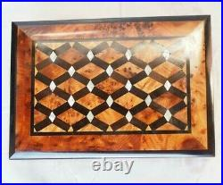 Wooden Jewelry Box Inlaid With-Mother-Of-Pearl, Hand-Carved Box, Decorative Box