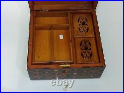 Wooden Jewelry Box Made Of Thuya Burl, Lockable Chest Box, With 3 Storage Level