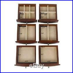 Wooden Jewelry Box Organizer Wood Cabinet 7 Layers Case 6 Drawers 2 Colors AF459