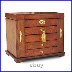 Wooden Jewelry Box for Women Organizer Box of Solild Wood with Lock Watches N