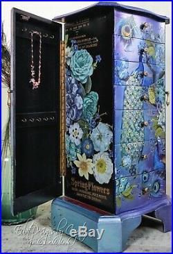 Wooden Jewelry Cabinet Armoire Box Storage Chest Stand