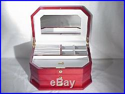 Wooden Large Jewelry Storage Box by Rocket Red Box at WHOLESALE