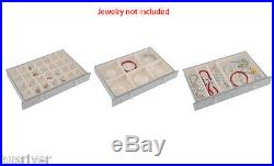 Wooden Necklace Bracelet Rings Storage Organiser Jewelry Box with Lock White