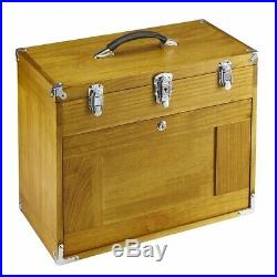 Wooden Tool Box Chest Slide 8 Drawers Arts Jewelry Storage Multi Tray Cabinet