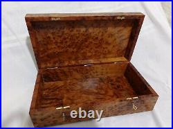 Wooden box thuya, box is big 17×9×4 inches, box is very beautiful, made of quali